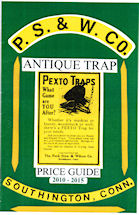 Peck Stow & Wilcox Co. Antique Trap Price Guide Front Cover